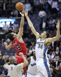 By Keith Allison from Owings Mills, USA (Joakim Noah and JaVale McGee) [CC-BY-SA-2.0], via Wikimedia Commons