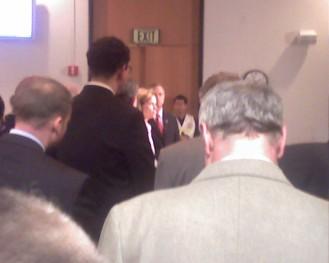 Deputy Health Secretary Frances Burman during a press conference. Gov. O'Malley next to her