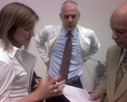 Left to right: Dr. Wilson, State Epidemiologist Dr. David Blythe, and an ID doctor form Hopkins whose name I forget