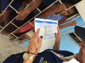 Checking immunization records