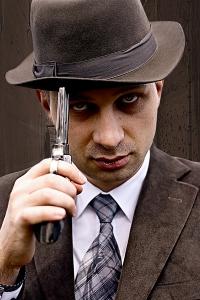 ganster-handgun-hat