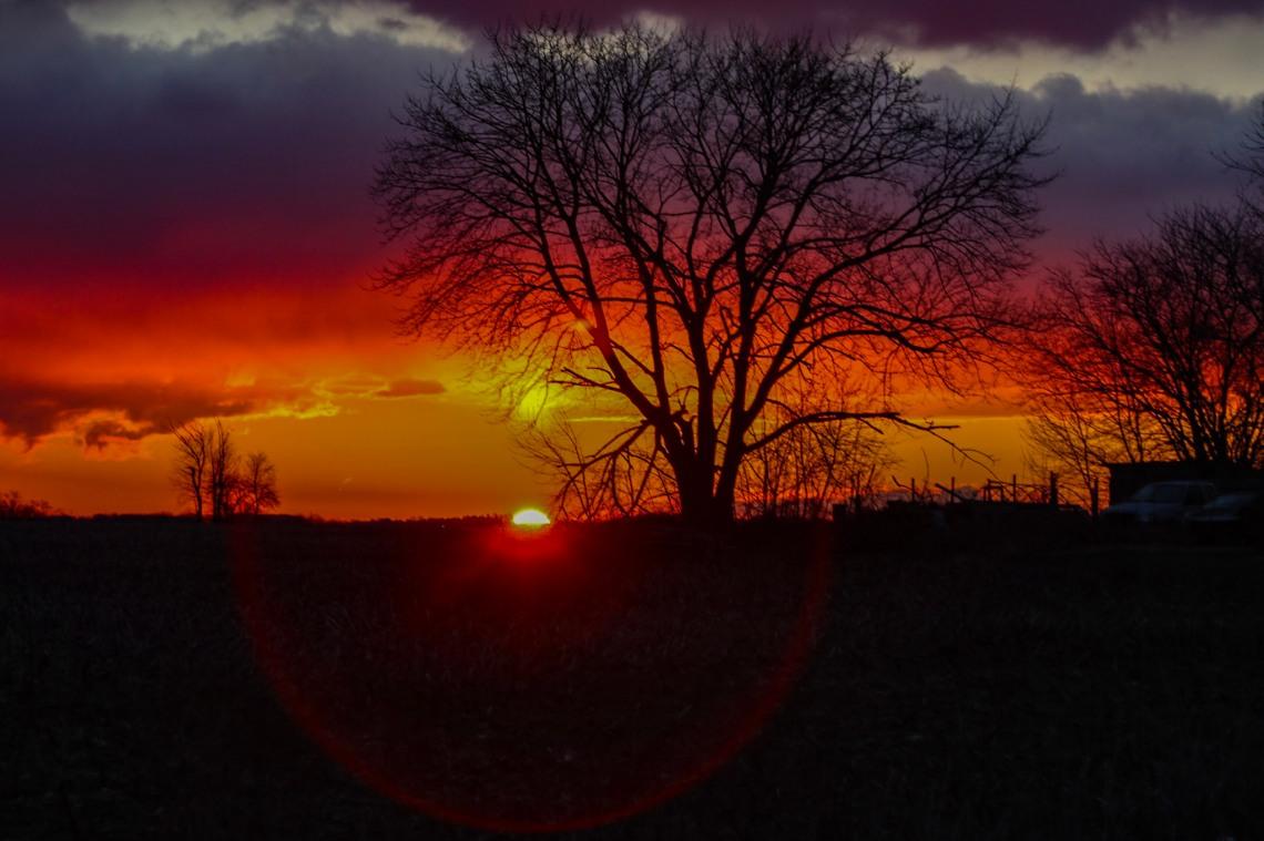 Sun Coming Up at Dawn